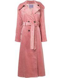 ALEXACHUNG Double-breasted Cotton-corduroy Trench Coat Antique Rose - Pink