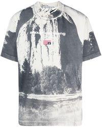Alexander Wang Cathedral Rock Crew-neck T-shirt - Grey