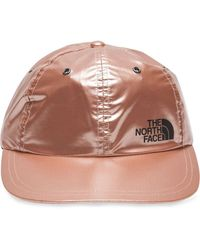 Supreme X TNF Metallic-Baseballkappe - Pink