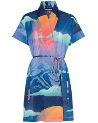 DOUBLE RAINBOUU 'Wet Dream' Kimono - Blau