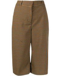 Veronica Beard Amaris Culotte Trousers - Brown