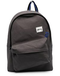 ADER error Logo Patch Cotton Backpack - Grey