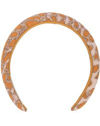 Jennifer Behr Haarreif mit Print - Orange