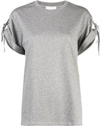 3.1 Phillip Lim Tied Short-sleeved T-shirt - Gray