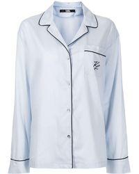 Karl Lagerfeld ロゴ パジャマ - ブルー