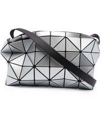Bao Bao Issey Miyake Carton Metallic-effect Cross-body Bag - Grey