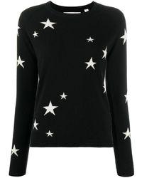 Chinti & Parker Star Print Cashmere Jumper - Black
