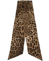 Dolce & Gabbana - アニマルプリント スカーフ - Lyst