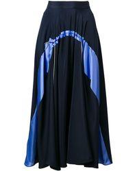 ROKSANDA Falda midi Zelma - Azul