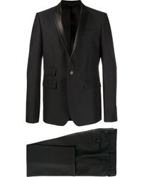 Les Hommes サテンラペル スーツ - ブラック