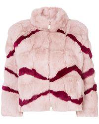 Blugirl Blumarine - Striped Jacket - Lyst