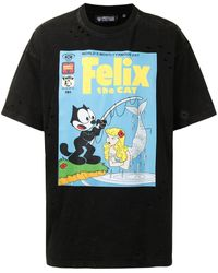 Mostly Heard Rarely Seen Vintage Finishing Felix T-shirt - Black