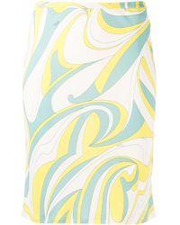 Emilio Pucci Nuages スカート - グリーン