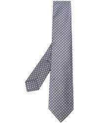 Kiton Cravate à motif géométrique - Gris