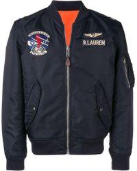 Polo Ralph Lauren Chaqueta bomber estilo aviador - Azul
