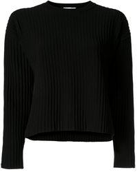 CASASOLA リブニット セーター - ブラック