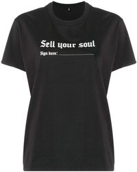 R13 Sell Your Soul Tシャツ - ブラック