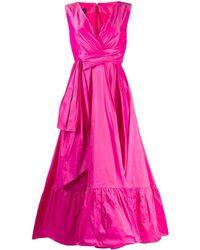 Talbot Runhof Расклешенное Платье Boma - Розовый