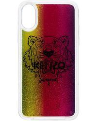 KENZO Iphone Xs Hoesje Met Glitter - Rood