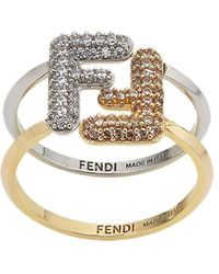 Fendi - Кольцо С Кристаллами - Lyst
