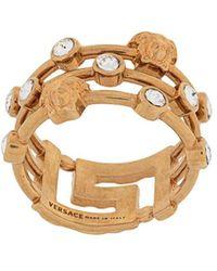 Versace Кольцо С Декором Medusa И Орнаментом Greca - Металлик