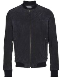 Lot78 - Suede Bomber Jacket - Lyst
