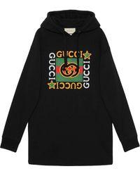 Gucci Платье-худи С Логотипом - Черный