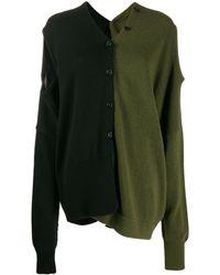 Marni Contrast Dual-wear Wool Cardigan - Black