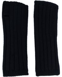 Holland & Holland Knitted Mittens - Blue
