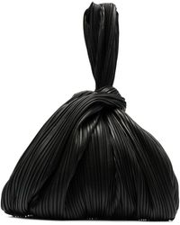 Nanushka アニマルフリーレザー ハンドバッグ - ブラック