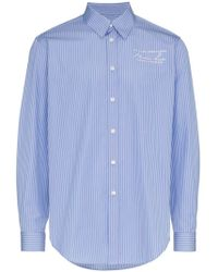 Martine Rose - Long Sleeve Logo Embroidered Shirt - Lyst
