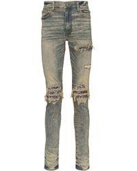Amiri Gescheurde Jeans - Blauw