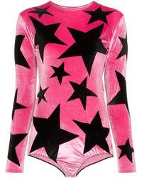 Alexia Hentsch X Browns Velvet Bodysuit - Pink