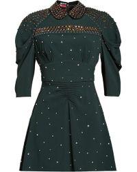 Miu Miu - Studded Sablé Dress - Lyst