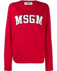 MSGM ロゴ スウェットシャツ - レッド