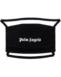 Palm Angels Mascherina con stampa - Nero