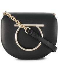 Ferragamo - Gancini Flap Shoulder Bag - Lyst
