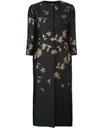 Oscar de la Renta Jacquard Floral Coat