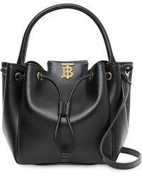 Burberry Monogram Motif Bucket Bag - Black