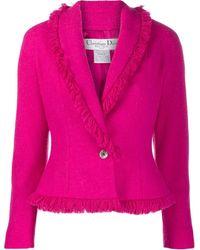 Dior Блейзер С Бахромой Pre-owned - Розовый