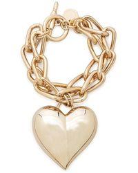 Carolina Herrera Oversize Heart Bracelet - Metallic