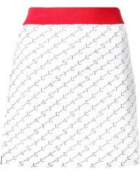 Stella McCartney Aライン ミニスカート - ホワイト