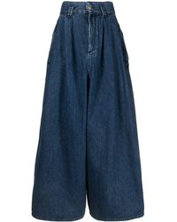 Isabel Marant Wide-leg Cropped Jeans - Blue