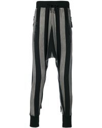 Unconditional - Striped Drop-crotch Trousers - Lyst