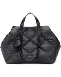 Moncler Oversized Quilted Tote - Black