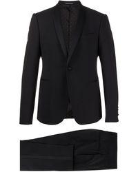 Emporio Armani Costume ajusté classique - Noir