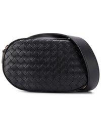 Bottega Veneta Intrecatto Belt Bag - Black