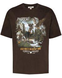 Phipps グラフィック Tシャツ - ブラウン