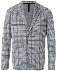 Harris Wharf London - Checked Design Jacket - Lyst