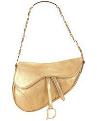 Dior 'Saddle' Schultertasche - Mettallic
